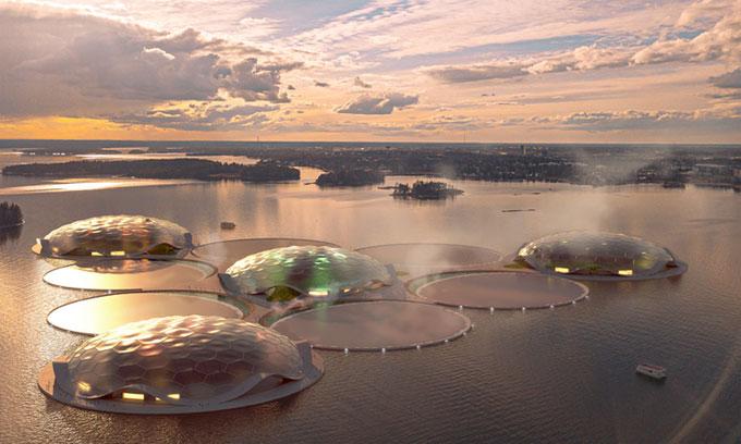 Thiết kế quần đảo nhân tạo Hot Heart ở Helsinki
